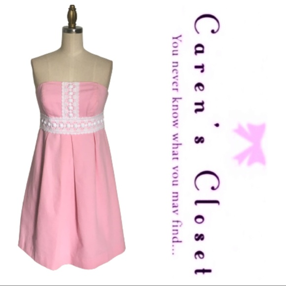 Lilly Pulitzer Pink Strapless Embellished Dress